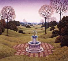 Dutch Landscape - (Jacek Yerka) #art #artwork #oilpainting #yerka #surrealism #yerka #fountain #landscape #symbolism