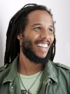 Ziggy Marley. Look at this beautiful man and his amazing smile. And his awesome dreads.