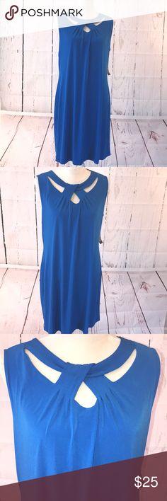 d7edc1dae76 New York and Company Sleeveless Blue Jersey Dress Beautiful sleevelesssoft  matte jersey dress from New York