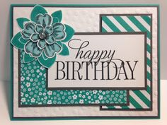Happy Birthday, Everyone, Crazy about You, Petite Petals, Flower Shop, Birthday Card, Stampin' Up!, Rubber Stamping, Handmade Cards