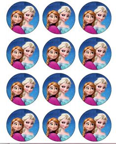 Frozen Themed Birthday Party, Frozen Party, Birthday Party Themes, Images Eid Mubarak, Edible Cupcake Toppers, Edible Cake, Frozen Cupcakes, Frozen Queen, Edible Printing