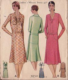 McCall 5930 | ca. 1929 Ladies' & Misses' Dress
