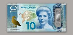 Artistic rendition of New Zealand's new $10 banknote. The Reserve Bank is completing detailed work on the public and machine-readable security features, which will help people to authenticate the new notes. For this reason, the actual banknotes will look slightly different to the ones shown here