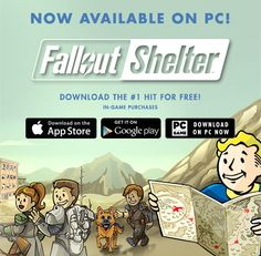 Fallout Shelter now available on PC! #Fallout4 #gaming #Fallout #Bethesda #games #PS4share #PS4 #FO4
