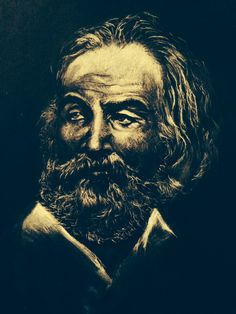 Portrait of Walt Withman in pastel 2012