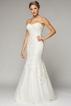Strapless sweetheart neckline mermaid wedding dress 105-644w