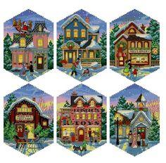 Gallery.ru / Фото #2 - 08785Christmas_Village_ornamen - embroidery
