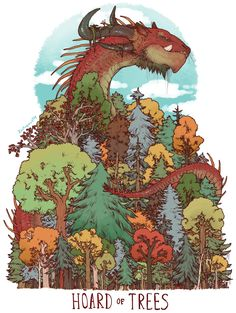 Unusual dragon hoards hoard of trees iguanamouth Dragon Hatchling Egg Baby Babies Cute Funny Humor Fantasy Myth Mythical Mystical Legend Dragons Wings Sword Sorcery Magic Art Fairy Maiden Whimsy Whimsical Drache drago dragon Дракон drak dragão Fantasy Kunst, Fantasy Art, Illustrations, Illustration Art, Cute Dragons, Dragon Art, Dragon Comic, Magical Creatures, Creature Design