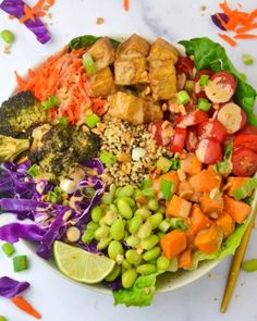Veggie Bowl Recipe, Vegan Bowl Recipes, Vegetarian Recipes, Healthy Recipes, Drink Recipes, Veggie World, Dinner Bowls, Vegan Dinners, Nutritious Meals
