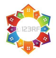 Circle of houses Stock Vector - 17771717