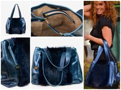 Leather bag with fox fur and leather lining Fox Fur, Drawstring Backpack, Leather Bag, Backpacks, Bags, Accessories, Fashion, Handbags, Moda