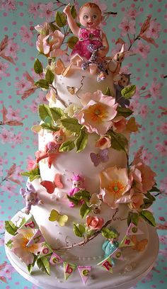Inspiration - lots of great cakes this is: Phoebe Rose's christening cake  by nice icing, via Flickr