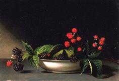 Raphaelle Peale Blackberries 1813 - still life quick heart