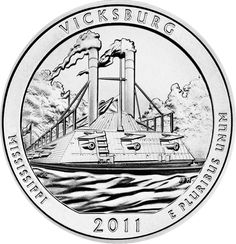 Reverse of 2011 America the Beautiful United States quarter dollar #coin, depicting the Vicksburg National Military Park. Available now at Lear with IRA Eligibility. Call (800) 783-1407 for more info or visit http://www.learcapital.com/encyclopedia/269/moredetail.html