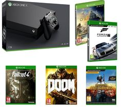 Get 155 off Xbox One X With Five Games Plus January Sales  Want IGN UK Deals in your social feeds? Like us on Facebook and follow me on Twitter for the most up-to-date bargains.    Xbox One X With Five Games Under 480  Currys PC Word are offering a great deal on Xbox One X and five games which will save you over 24% off the original price.The deal includes Microsoft Xbox One X console Fallout 4 Doom Forza Motorsport 7 PlayerUnknown's Battlegrounds and Assassin's Creed Origins all for 479.99…