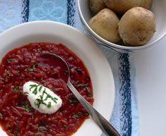 Burokėlių sriuba su kopūstais ir jautiena