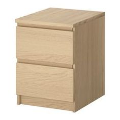 MALM Chest of 2 drawers - white stained oak veneer - IKEA