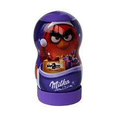 Подарочный набор Милка в виде банки с фигуркой птички из Angry Birds с конфетами альпийского молочного шоколада и двумя... Angry Birds, Drink Bottles