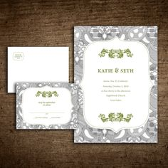wedding invitation by Tupy Boutique