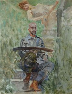 Jacek Malczewski - Autoportret z paletą i Muzą, 1907