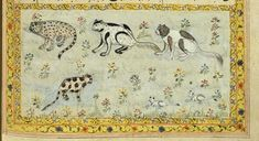 """Cats from 17th or 18th century manuscript copy of """"The Book of Wonders of the Age"""" (St Andrews ms32(o))"""