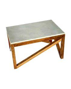 Wood Coffee Table w Glass Top