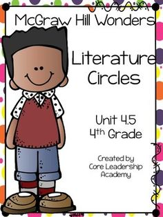 Thinkmark Literature Circle graphic organizer ~ Unit 4.5~There are 4 different levels approaching, on, ell, and advance!  Great for literacy centers! Enjoy!