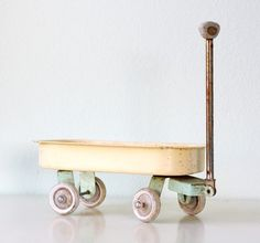 Vintage Nostalgic Wooden Pair Of Toy Horses - Midcentury Modern Kids Room Decor. Pixie, a wooden toy camera - twigcreative vintage toy wagon. Little People, Little Ones, Toy Wagon, Deco Kids, Christmas Toys, Christmas 2016, Electronic Toys, Nursery Inspiration, Color Inspiration