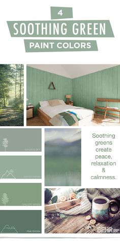 Turn your house into a home with this soothing green color palette from BEHR Paint. Shades like Nature's Gift, Copper Patina, Gallery Green, and Pine Brook create peace, relaxation, and calmness in the rooms of your home. Click below to see how you can use these modern hues in your next DIY project.