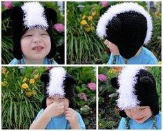 Skunk Earflap Hat