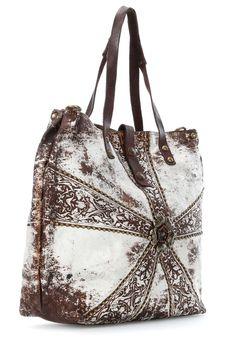 Campomaggi Fiore Tote white 32 cm - C3151LAVL-3133 - Designer Bags Shop - wardow.com