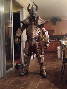 My name is Steven and I am the maker of this Skyrim Dragonbone Armor costume. The idea came from the video game Skyrim, it is one of my favorite looking ar Skyrim Cosplay, Epic Cosplay, Amazing Cosplay, Cosplay Outfits, Cosplay Costumes, Cosplay Ideas, Cosplay Style, Cosplay Armor, Dragon Bones