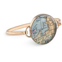 Customizable Map Travel Jewelry - 7.25 Medium Vintaged Bronze Bracelet... ($170) ❤ liked on Polyvore featuring jewelry, bracelets, vintage jewellery, bronze jewelry, bronze bangle, vintage jewelry and vintage bangle