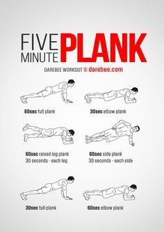 Do a five minute plank workout to strengthen your core.  I like this idea.