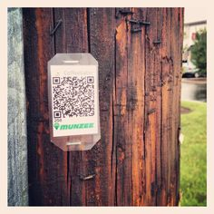 Stapled Munzee ready to be scanned :). This one is near Robinson Mall with many more Munzees nearby to find.