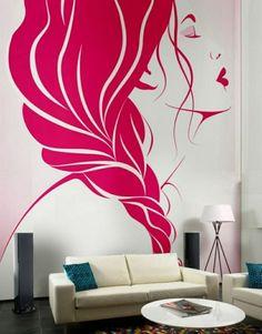 Wandmalerei Macht Das Wohnzimmer Noch Wohnlicher   30 Beispiele Für Schönes  Wanddesign