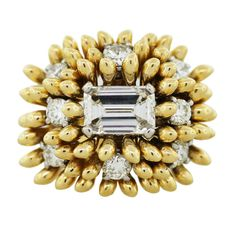jean schlumberger jewelry | TIFFANY and CO Jean Schlumberger Emerald Cut Diamond Cluster Ring at ...