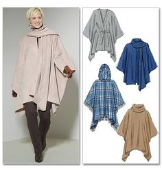 McCall's Pattern M6209 Misses' Ponchos and Belt by GGselections