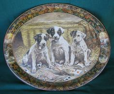 I love these old American advertising trays - from the Ruby Lane shop The Old Grey Mare