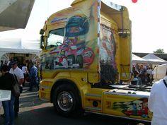 Work of art - Homenagem feita por um fã de Ayrton Senna na Le Mans, 2010.