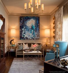 Pasadena Showcase House 2015 transitional library from Jennifer Bevan Interiors