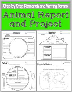 Animal Report and Project Step by Step Guide! Fun way to get your students researching and writing about any animal. Differentiated for 1 or 5 paragraph outcomes.