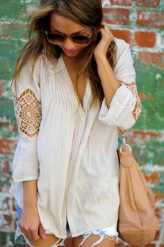 Pleated Peace Lace Top | Hope's