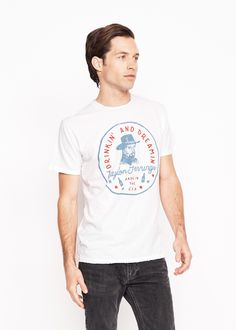 Drinkin' and Dreamin' Men's Crew - Bright White