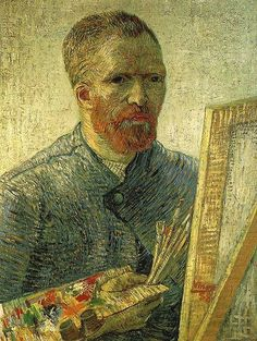 Self-portrait as a painter Vincent van Gogh (Dutch, Post-Impressionism, Oil on canvas. Van Gogh depicts himself as an artist, with all the necessary. Art Van, Van Gogh Art, Van Gogh Pinturas, Van Gogh Portraits, Van Gogh Self Portrait, Vincent Van Gogh, Van Gogh Museum, Art Museum, Irving Stone