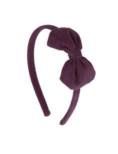 Polly Jo hair band · aubergine corduroy