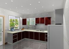 The l shaped kitchen layout tiny kitchen ideas l shaped kitchen layouts small kitchen design layout Popular Kitchen Designs, Kitchen Design Small, Kitchen Cabinet Design, 3d Kitchen Design, Kitchen And Bath Design, Aluminum Kitchen Cabinets, Simple Kitchen Design, Kitchen Layout, Modern Kitchen Design