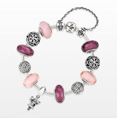 Pink and flowers, what more can a girl ask for? #PANDORAbracelet