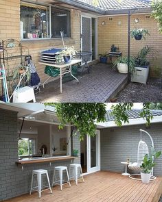 Home Renovation Loans for Repair and Maintenance – House Viral Gossip Home Exterior Makeover, Exterior Remodel, Patio Makeover, Reforma Exterior, Design Grill, Farm Kitchen Ideas, Kitchen Tips, Diy Kitchen, Kitchen Cabinets