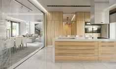 Wizualizacja wnętrz Willa Floryda - Kuchnia  #design #projekt #dom